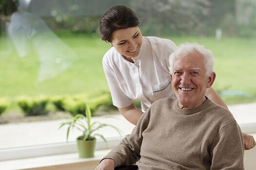 Senior-Man-with-Caregiver